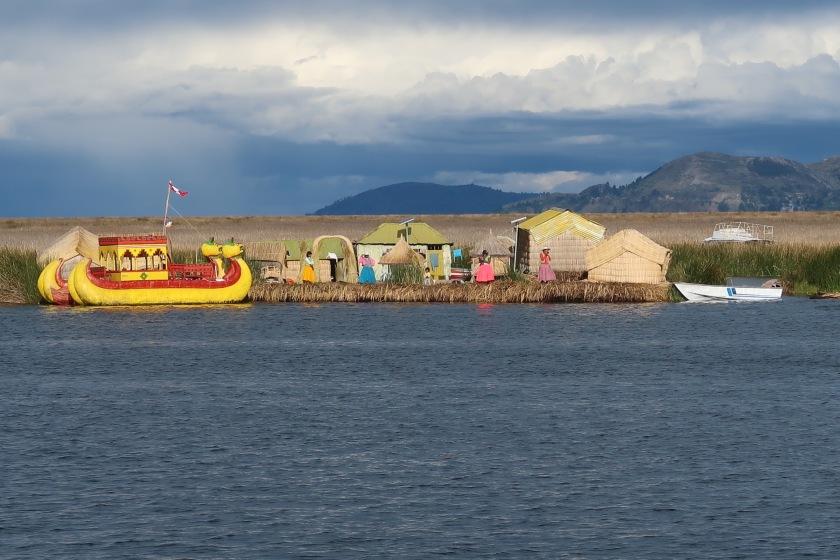 Floating reed islands near Puno