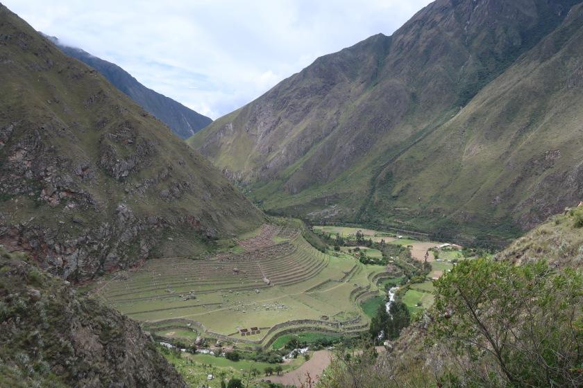 First major Incan ruin along the Inca Trail