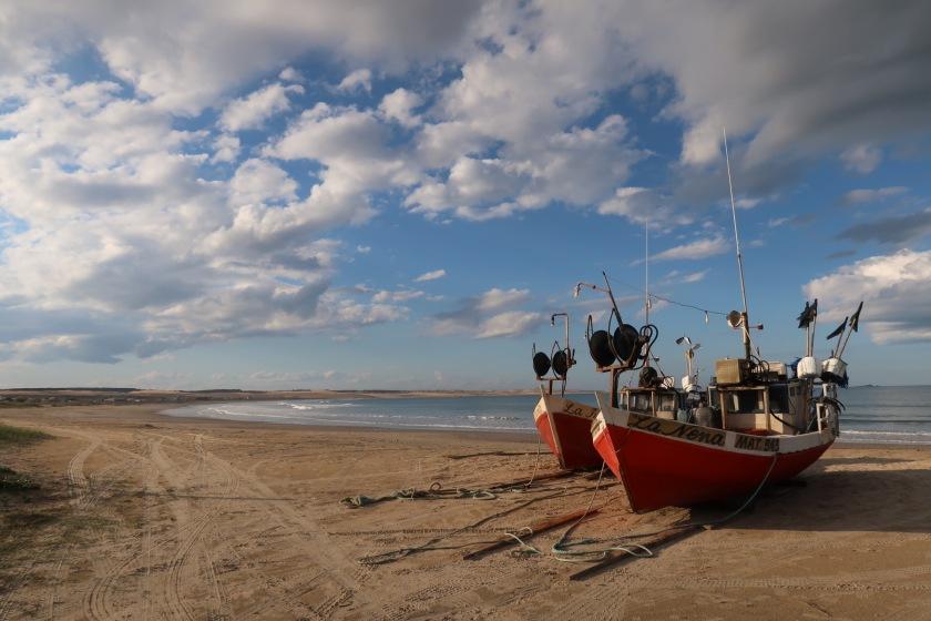 The wide empty beaches of Cabo Polonio