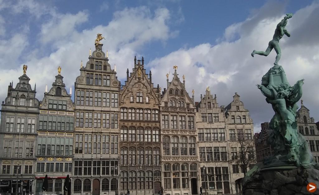 The Guild buildings on Antwerp's Grote Markt